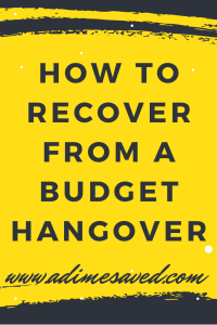How to recover froma budget hangover