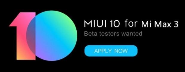 Global Beta ROM testers for MI Max 3
