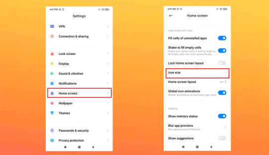 How To Change App Icon Size On Xiaomi Android Phones