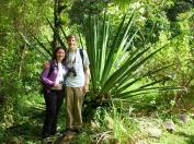 My boyfriend Kevin and I stand next to a giant agave plant, which is used to make tequila.