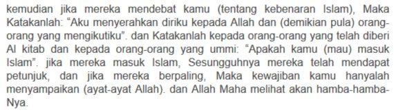 Ayat Tentang Tabligh Ali Imran Ayat 20