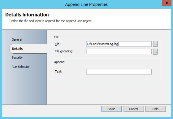 Add Append Line Activity 05