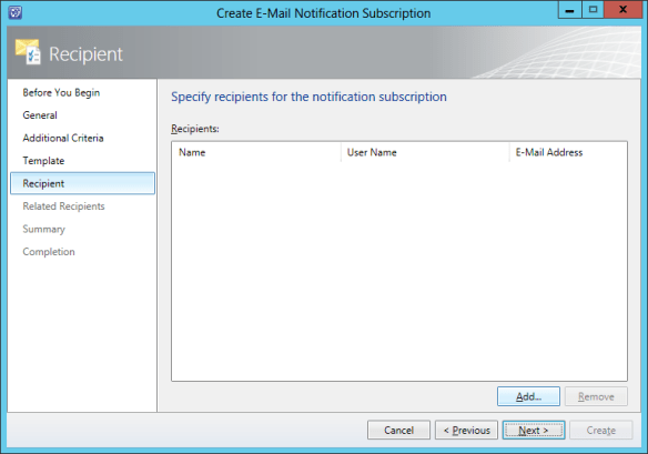 Create Notification Sub - Incident 13