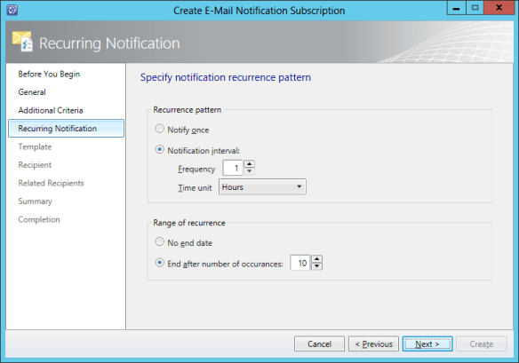 Create Notification Sub - Release Record 12