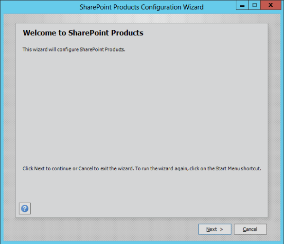 SharePoint Config Wizard 01