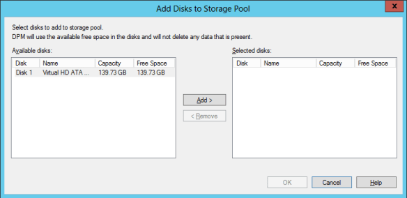 Add Disk To DPM 04