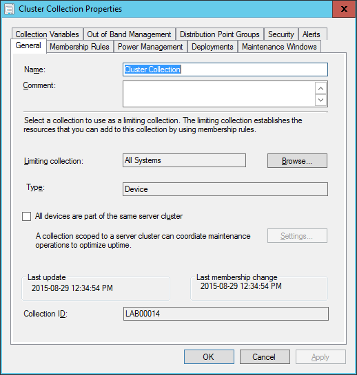 SCCM2016TP3 - Collection Properties