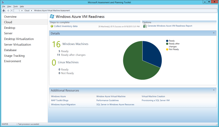 MAP Toolkit - Azure VM Readiness - Details
