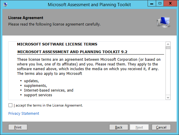 MAP Toolkit - Install 02 - License Agreement