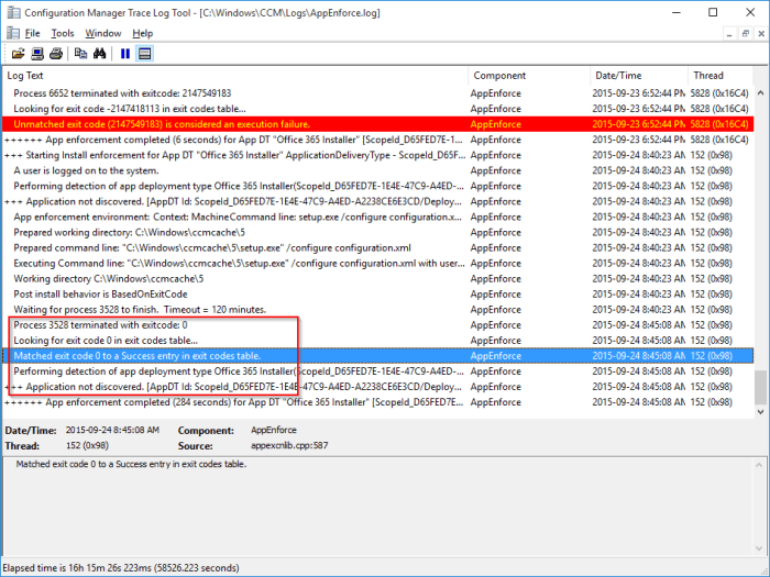SCCM AppEnforce Log