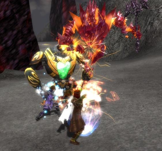 Fighting the Jade warriors