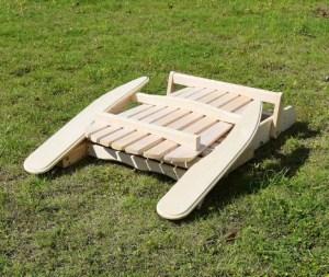 Merry Garden Foldable Wooden Adirondack Chair