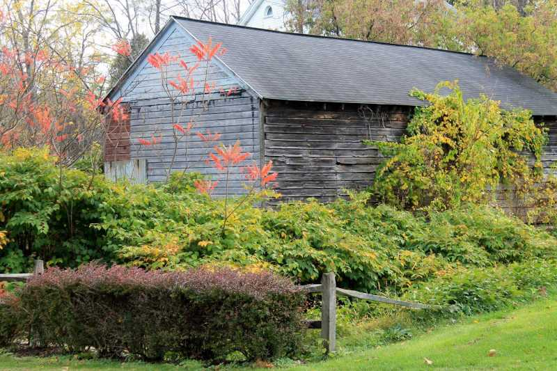 gray barn by the mohawk river