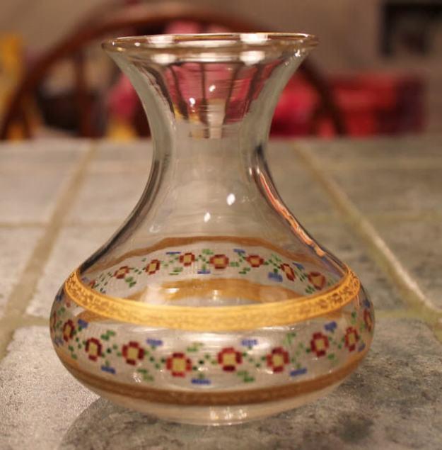 vintage vase with decoration