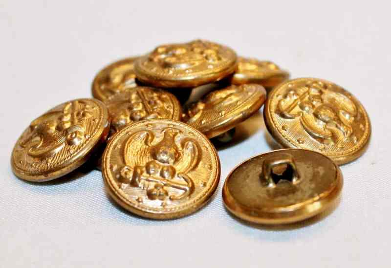 vintage metal navy buttons