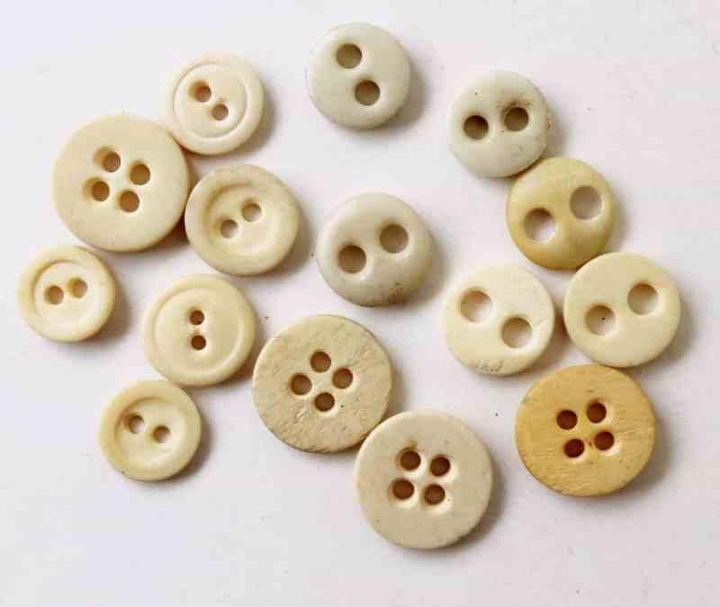 vintage bone buttons