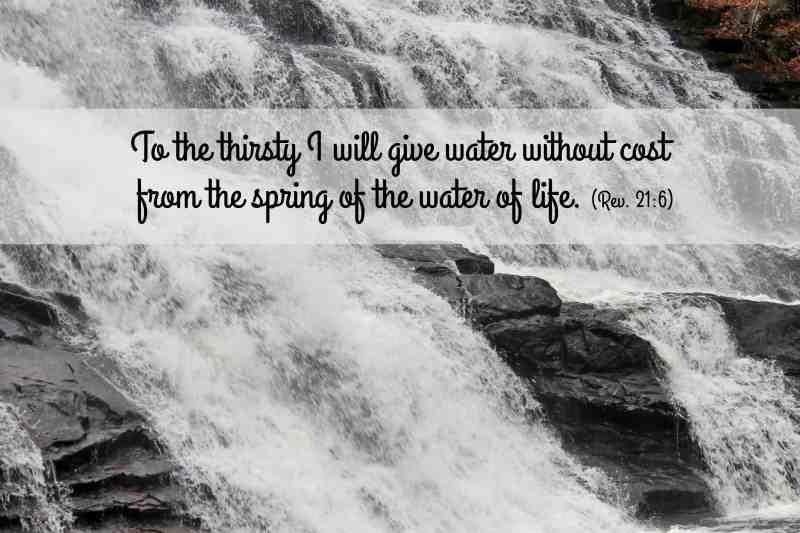 Barbar Falls with scripture