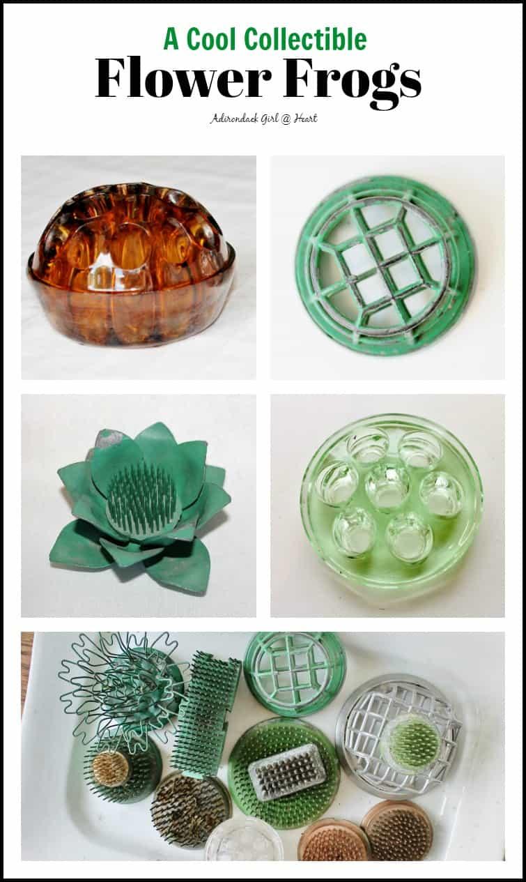 vintage flower frog collage