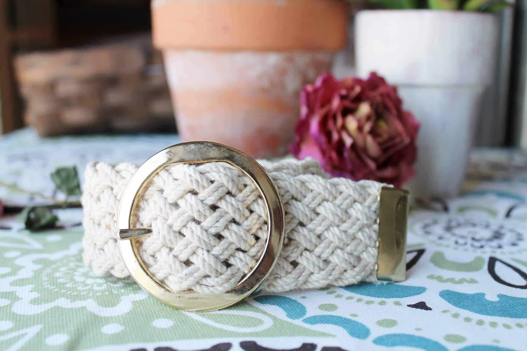 vintage belt becomes a bracelet