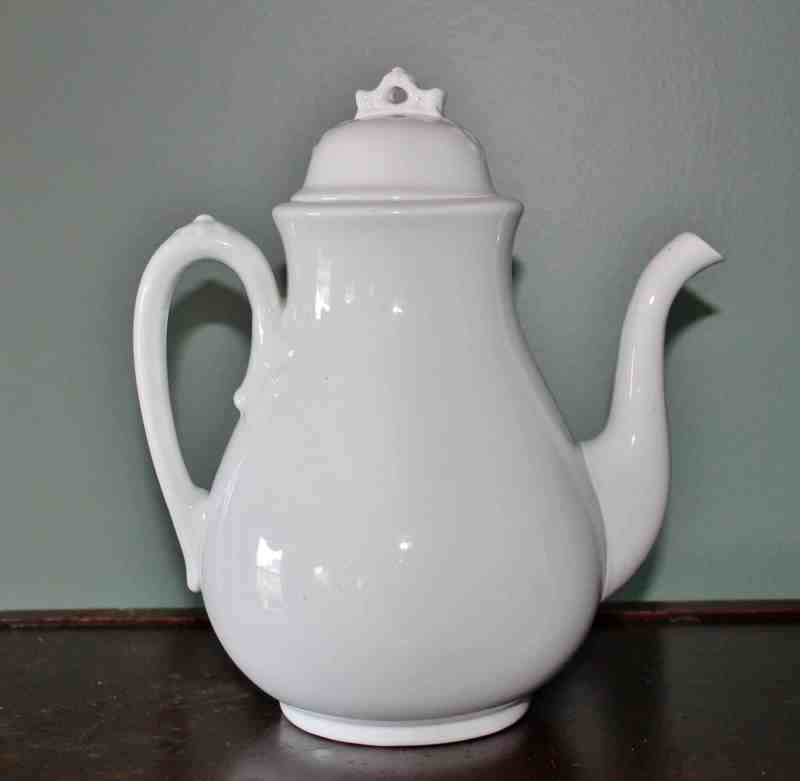 George Jones Sons antique ironstone chocolate pot