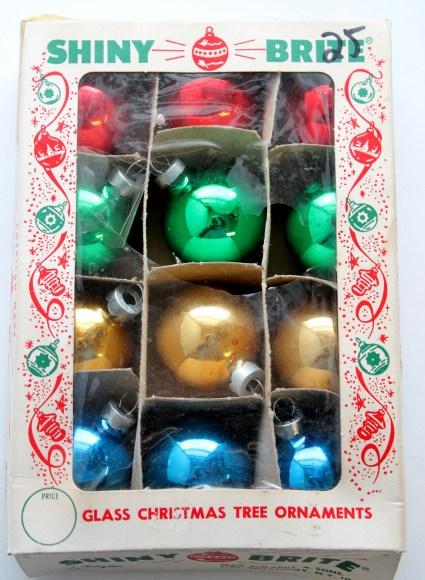 vintage shiny brite christmas ornaments