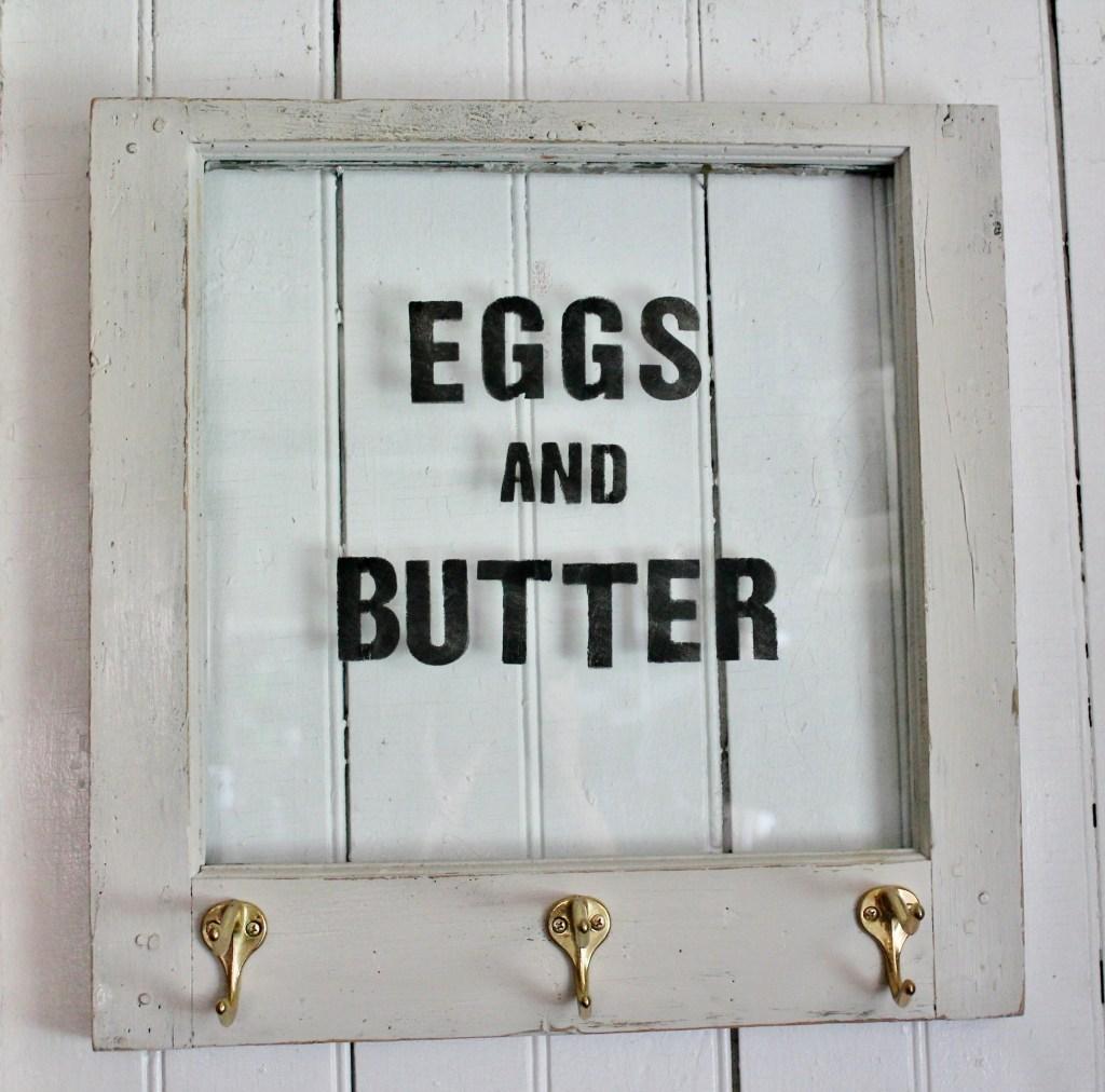 vintage eggs & butter sign