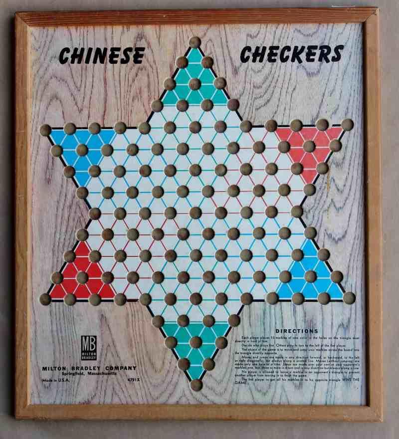vintage milton bradley chinese checker board