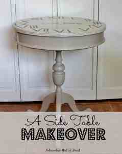 A Side Table Makeover & Wax Recipe
