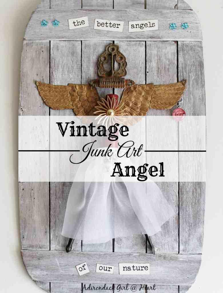 vintage junk art angel