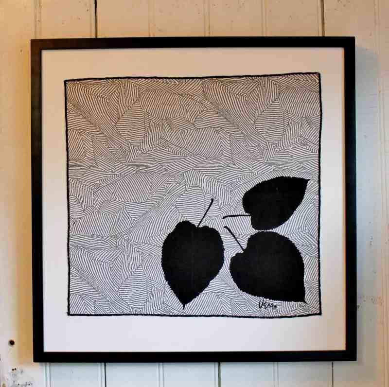 framed vintage vera neumann napkin