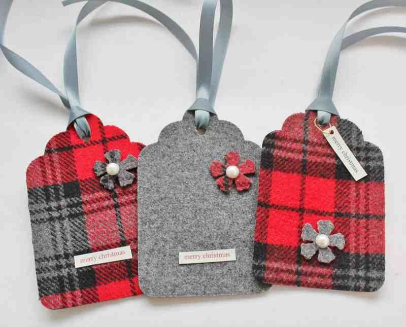 Wool Christmas Tags
