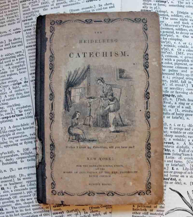 Antique catechism book