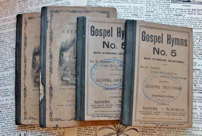 Antique miniature books