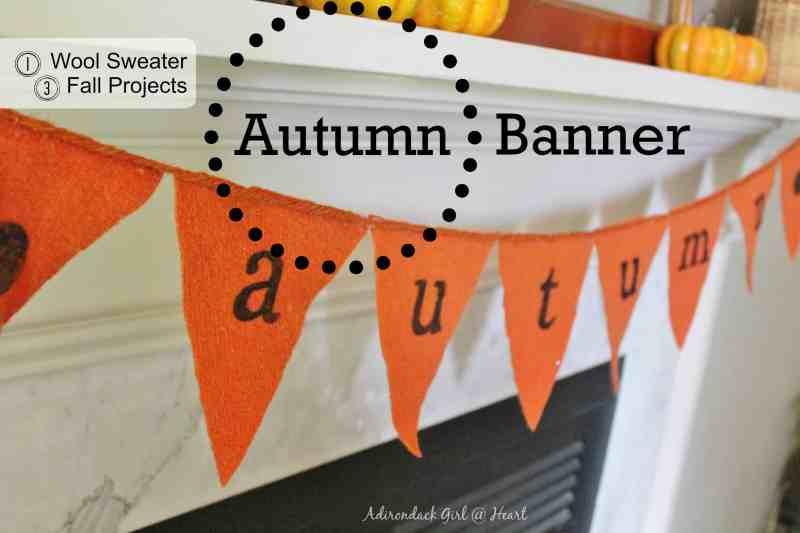 Autumn wool sweater banner