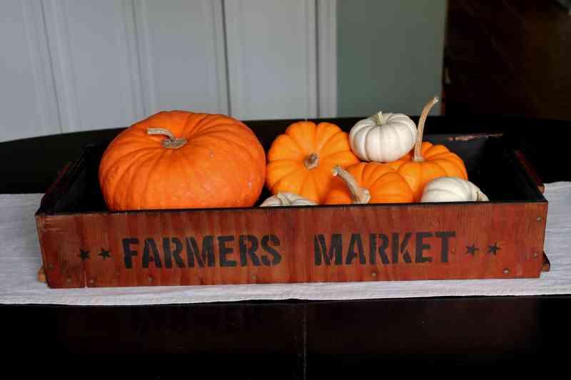 vintage farmer's market tray