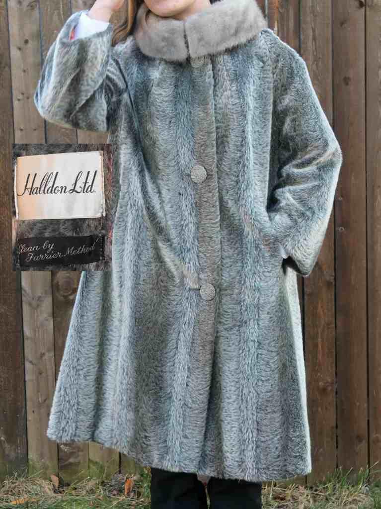 Vintage Faux Mink Coat