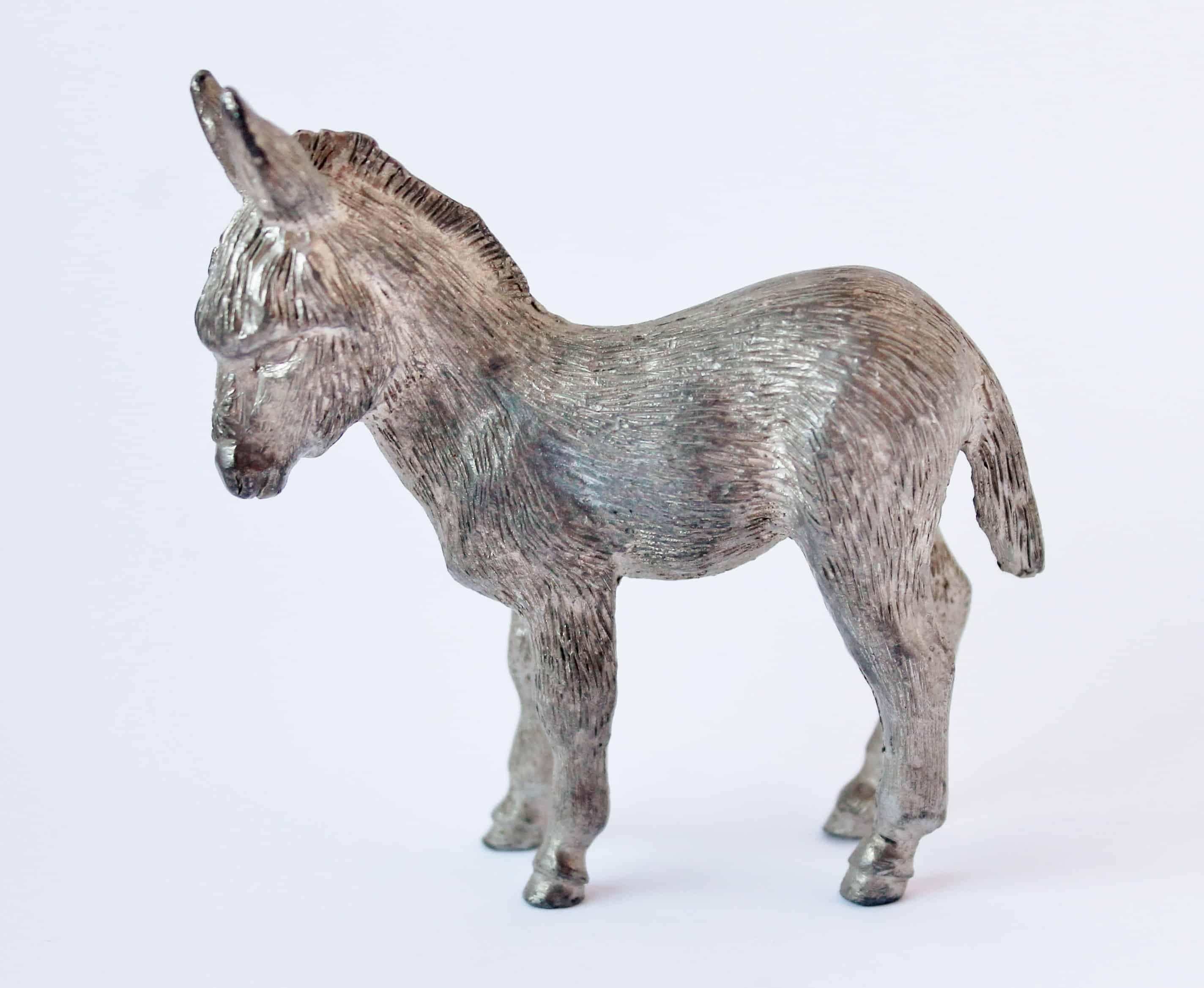 Vintage metal donkey