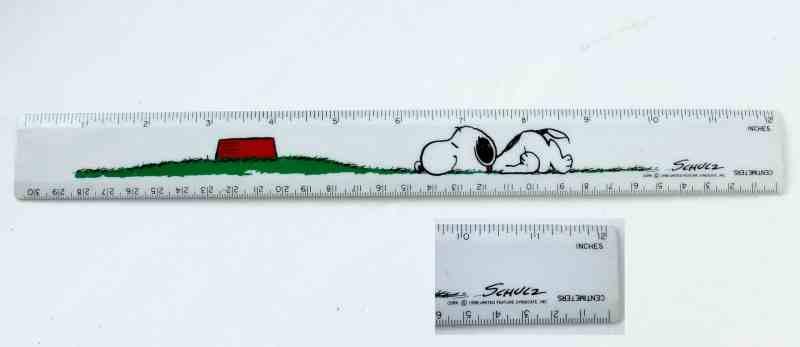 Vintage Peanuts Ruler c.1958 Snoopy