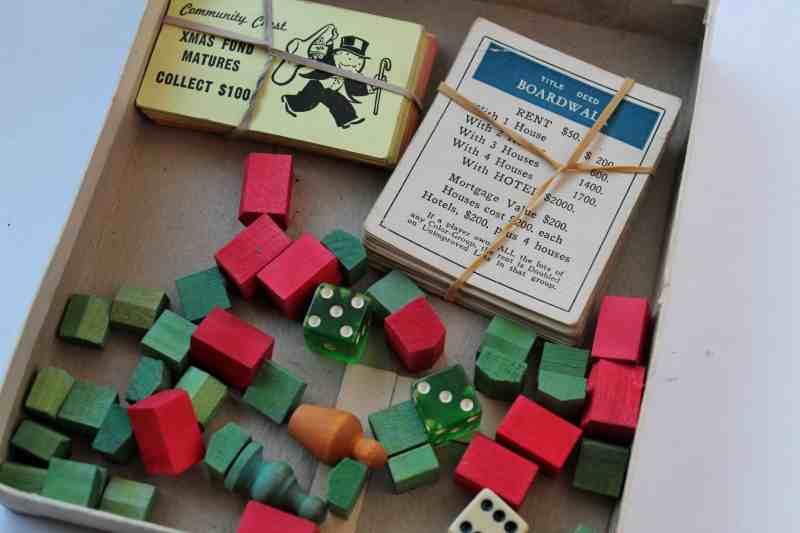 Vintage Monopoly Pieces