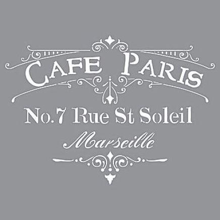 Deco Art Cafe Paris Stencil
