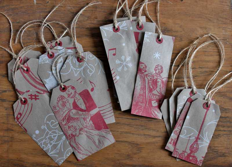 Trader Joe Shopping Bag gift tags in three sizes