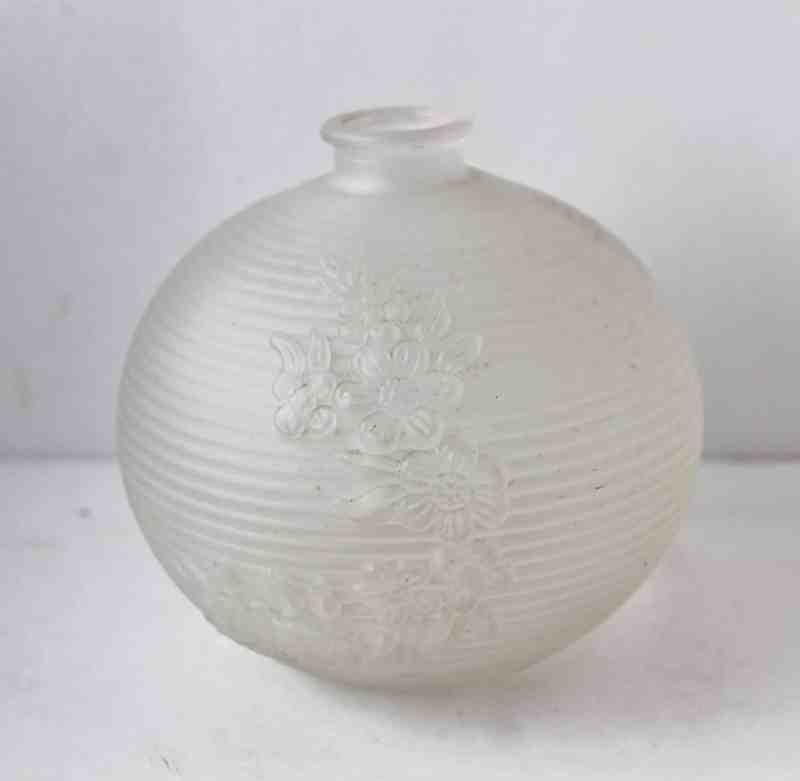 Orb-shaped glass vase