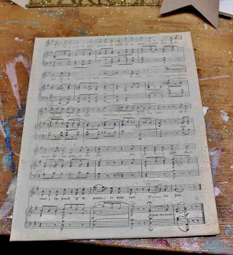 Vintage Music Paper Canvas