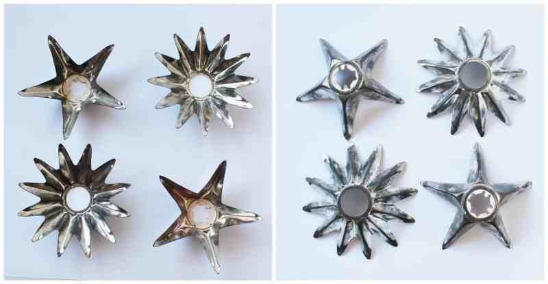 Vintage Tin Metal Christmas Light Reflectors