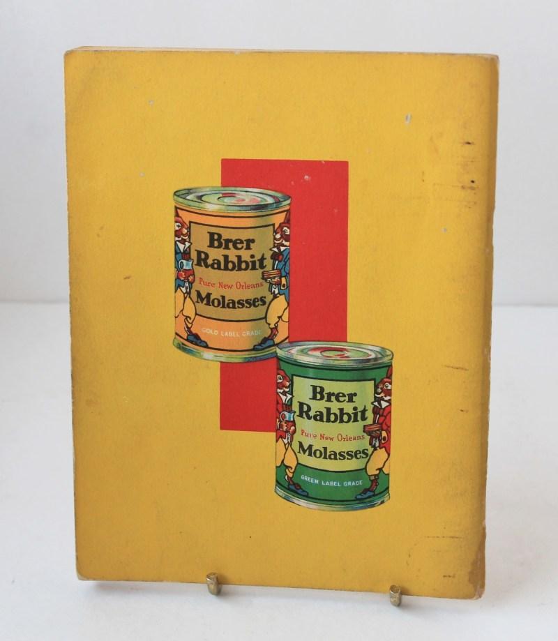Back of Vintage 1934 Brer Rabbit Molasses Cooking Pamphlet