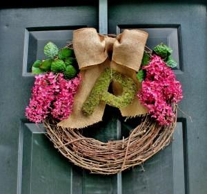 summer lilac wreath