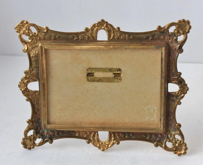Vintage Gold Metal Frame