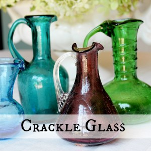 Crackle Glass square button