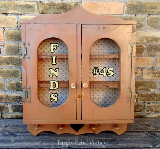 vintage-shelf-cabinet Finds #45 Tuula