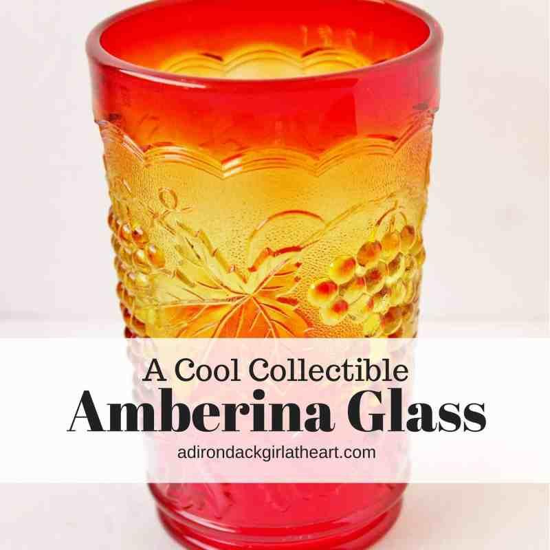 A Cool Collectible Amberina Glass Adirondack Girl Heart